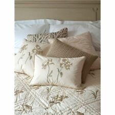 Sibona Peony Cream Embroidered  Cushion 100% Pure Cotton - COVER ONLY