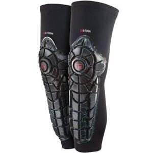 Knieschoner Schienbeinschoner g-form Elite Knee-Shin-Guards Farbe Blue-Black Rot