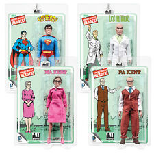 DC Comics Superman Mego Style Action Figures Series 3: Set of all 4 by FTC