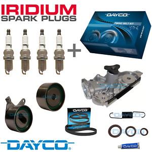 TIMING BELT KIT, WATER PUMP + IRIDIUM PLUGS - for Mazda 323 1.6L BJ 16v DOHC ZM