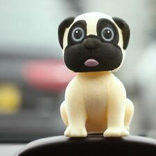 Nodding Pug Dog Dashboard Bobble Head Interior Car Accessories Gifts