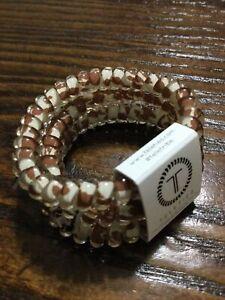 Teleties 3 Pack Small Hair Ties Cowabunga Ponytail Holder Bracelets NEW