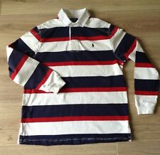 POLO RALPH LAUREN RUGBY SHIRT CUSTOM FIT SIZE L DOT MARK SEE DESCRIPTION