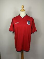 England 2002/2003 Umbro Away Vintage Football Shirt Reversible Mens Large Soccer