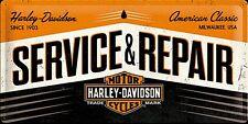 Harley Davidson Service & Repair large embossed metal sign  500mm X 250mm   (na)