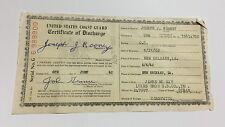 Vtg Old Military Coast Guard Discharge Certificate Vietnam War Era James Mckay !