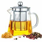 Glass Teapot with Removable Infuser Stovetop Safe Tea Kettle Blooming 18oz/550ml