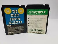Country Music 8 Track Tapes Lot of 2 Golden Country Collection & Best of Country