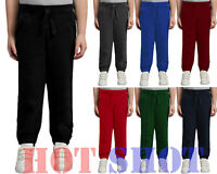 New Kids Boys Girls Fleece PE Gym School Jogging Bottoms Trousers Joggers Pants
