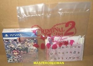 Criminal Girls 2 Party Favors Party Bag Edition PlayStation PS Vita New Sealed