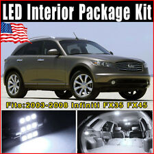 11 Pieces SMD Pure White Led Lights Package Kit For 2003-2008 Infiniti FX35 FX45