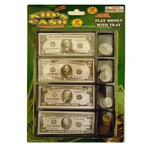 Play Money Set W/bills And Coins In Tray Great Learning Tool Pretend Play Game