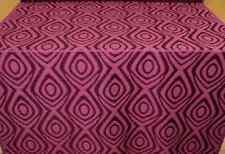 "NEW PER METRE FUCHSIA PINK & PURPLE ABSTRACT RETRO 'ABENAKI' PATTERN FABRIC 55""w"