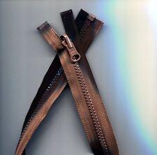 22 inch Dark Brown Vislon Reversible & Separating YKK Zipper New!
