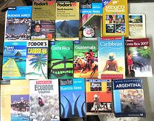 Latin America Travel Guides - 17 Books locations hotels maps Peru Caribbean +++