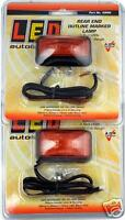 2 X LED RED MARKER LIGHT TRUCK TRAILER UTE CAB 58RM