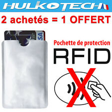 Etui ANTI-PIRATAGE Protection carte Bleue Visa bancaire FR sans contact RFID/NFC