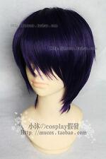 Shaman King Cosplay Short Purple Black Wig Fashion Harajuku Hair Wigs