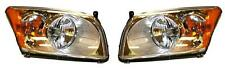 Fits 07 08 09 10 11 Dodge Caliber Headlight (without level system) Pair Set NEW