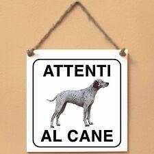 Bracco del Bourbonnais 2 Attenti al cane Targa piastrella cartello ceramic tile