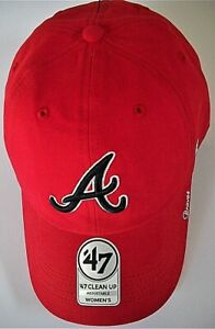 ATLANTA BRAVES LADIES ADJUSTABLE LOW-PROFILE CAP HAT W/ LOGO & NICKNAME ON BILL