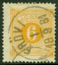 Edw1949Sell : Sweden Scott #J4 Very Fine, Used with neat dated cancel. Cat $77.