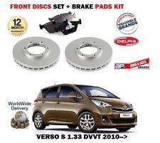 FOR TOYOTA VERSO S 1.33 VVTI 2010-> NEW FRONT BRAKE DISCS SET + DISC PADS KIT