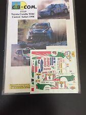 DECALS 1/43 TOYOTA COROLLA WRC DIDER AURIOL RALLYE SAFARI KENYA 1998 RALLY WRC