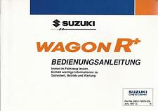 SUZUKI  WAGON R+ Betriebsanleitung 1997 Bedienungsanleitung Handbuch Bordbuch BA