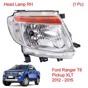 Head light Lamp Headlamp RH 1Pc Fits Ford Ranger T6 Pickup XLT 2012 2013 2014 15