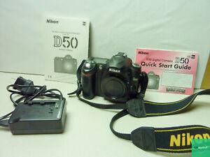 Nikon D50 6.1 MP Digital SLR Camera Body - With Charger, Battery, & Manual