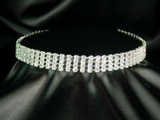 SALE 4, 5, 6, 10 made with Swarovski Crystal 925 Silver Gold Plated Choker BN030