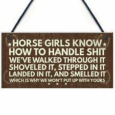 Horse Signs Funny Plaque Horse Sign For Bedroom Signs About Horses Keepsake Gift