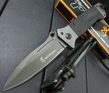 New Browning DA35 Pocket Knife 8Cr14Mov 58HRC Plating Titanium Blade Camping