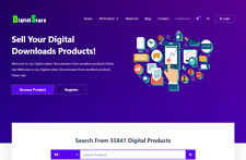 Digital Download Store Website Design  - Hosting Included