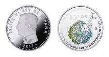 ESPAÑA: 10 euro plata 2017 proof  AÑO INTERNACIONAL TURISMO SOSTENIBLE