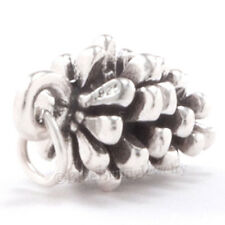3D CHRISTMAS PINECONE tree Sterling Silver Pendant Charm Pine Cone Solid 925
