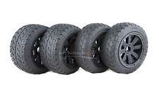MadMax FULL Wheel & Tyre Set, 8 Spoke Black On-Road Tyres HPI Baja & KM Buggy