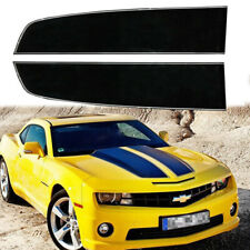 For Chevy Camaro 2010 20 Gloss Black Front Hood Rally Stripes Decal Racing Trim