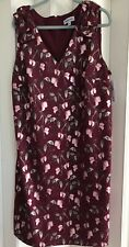 Brand New Shelby & Palmer Woman Merlot/Pink Sweet Pea Floral Shift Dress~22W NWT