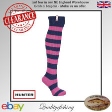 CLEARANCE: Hunter Socks Harlington Navy Pink One Size