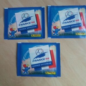 PANINI FRANCE  98 world cup sealed x 3  unopened packets of football stickers