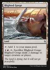 X4 Blighted Gorge -NM- Battle for Zendikar MTG Magic Cards Land Uncommon