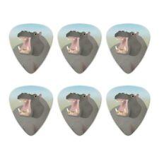 Hippopotamus Goes Roar Novelty Guitar Picks Medium Gauge - Set of 6