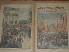 """STAMPE ANTICHE DI R. SALVADORI -CHIOGGIA LA FESTA """"BENEDIZIONE DEL MARE DEL 1923"""