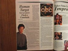 July 25, 1992 Harrisburg, Pa. TV Host Magazine(RICK  SPRINGFIELD/DELTA  BURKE)