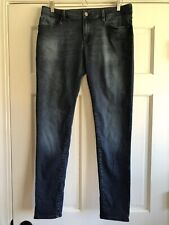 P14 Mavi Alexa Mid Rise Skinny Jeans Dark Wash Stretch Denim Womens 32