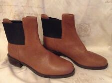 New❤️CLARKS❤️Size 6 (39.5 EU) Marquette Wish Dark Tan Leather Chelsea Boots