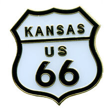 Route 66 Kansas America's Mainstreet Mother Road Badge USA Pin Anstecker 0626