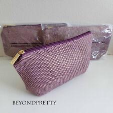 Lot Of 3 Tarte Makeup Cosmetic Bag In Purple Gold W Zipper 9 75 X
